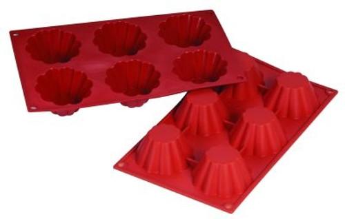Brioche - 3.7 oz - 6 pc per tray - Silicone - Fat Daddio's