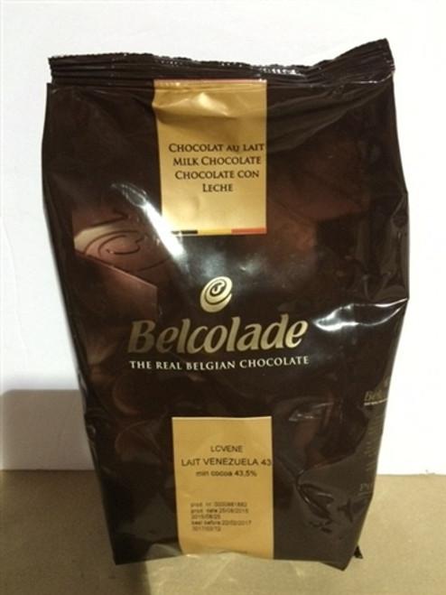 "Chocolate - Milk 43% - Venezuela ""Origine"" - 1 kg (2.2 lb) - Belcolade"