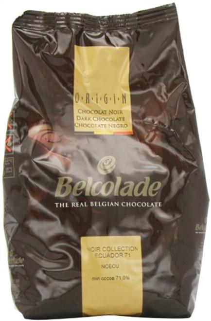 """Chocolate - Dark 71% - Ecuador  """"Origine"""" - 1 kg (2.2 lb) - Belcolade"""