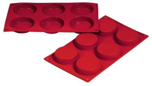 Flan - 1.76 oz - 6 pc per tray - Silicone - Fat Daddio's