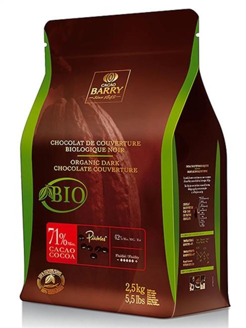 Chocolate - Dark 71% - Organic, Fair Trade - 2.5 kg (5.5 lbs) - Cacao Barry