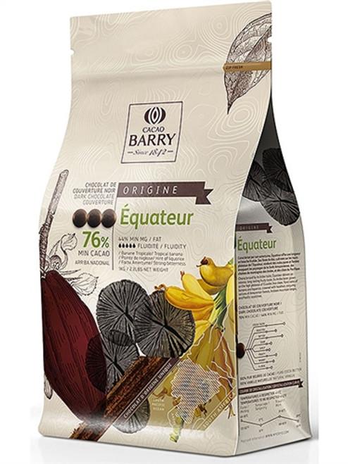 """Chocolate - Dark 76% - Équateur """"Origine Rare"""" - 1 kg (2.2 lbs) - Cacao Barry"""