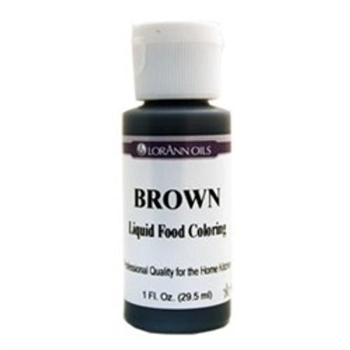 Brown Food Colouring - Liquid - 3.8 L / 1 Gallon - LorAnn