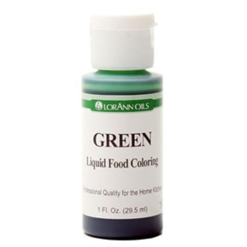 Green Food Colouring - Liquid - 118 mL/4 oz - LorAnn
