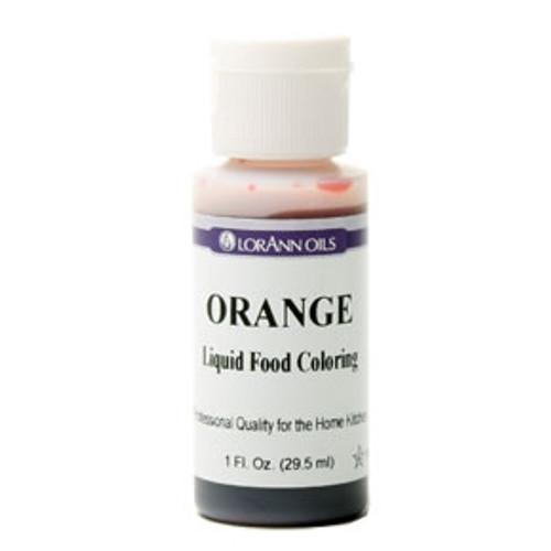 Orange Food Colouring - Liquid - 30 mL/1 oz - LorAnn