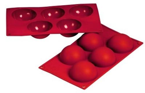 Hemisphere - 4 oz - 5 pc per tray - Silicone - Fat Daddio's