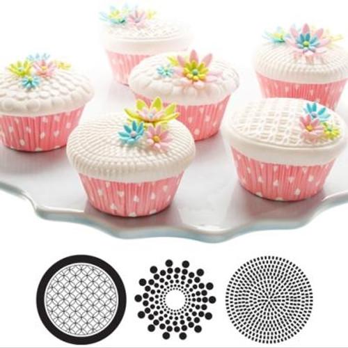 Cupcake/Cookie Texture Tops - Geometric (Set of 3)