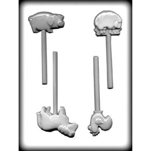 Animals (Farm) - Lollipop Plastic Mold