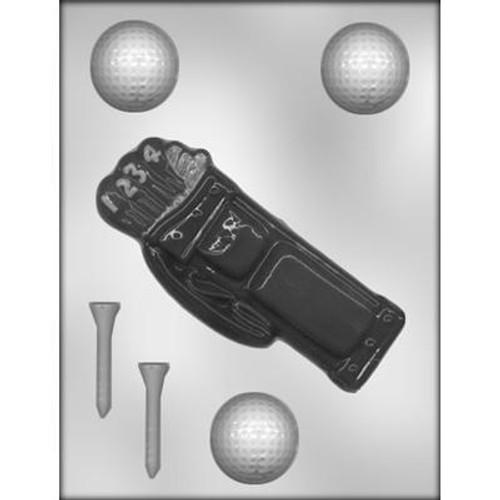 Golf Bag / Ball- Plastic Chocolate Mold--NEW!