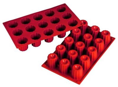 Bordelais - 2 oz - 15 pc per tray - Silicone - Fat Daddio's