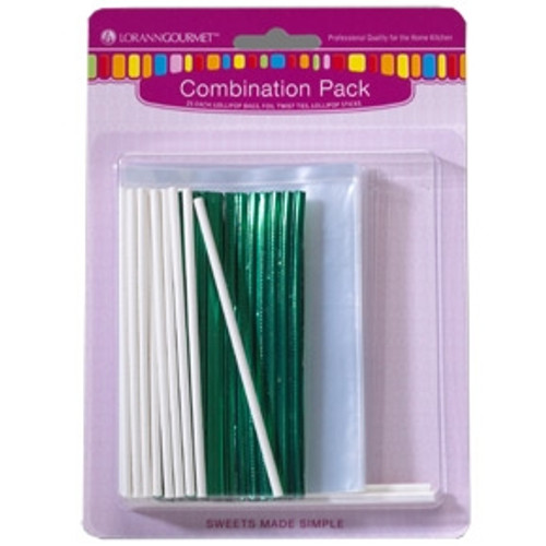 Lollipop Stick/Bag/Tie Combo Pack - 25/pack - LorAnn