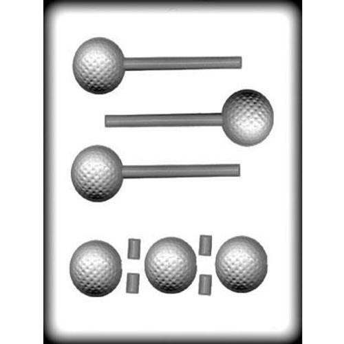 Golf Ball 3D - Lollipop - Hard Candy/Chocolate Plastic Mold