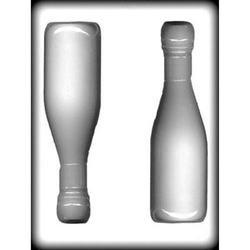 "Champagne Bottle - 7.125"" - Plastic Mold"