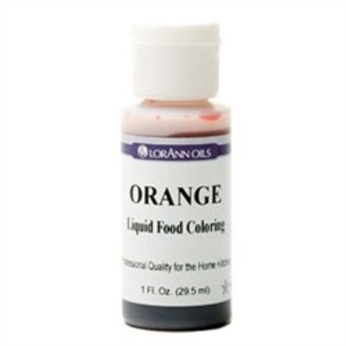 Orange Food Colouring - Liquid - 3.8 L / 1 Gallon - LorAnn