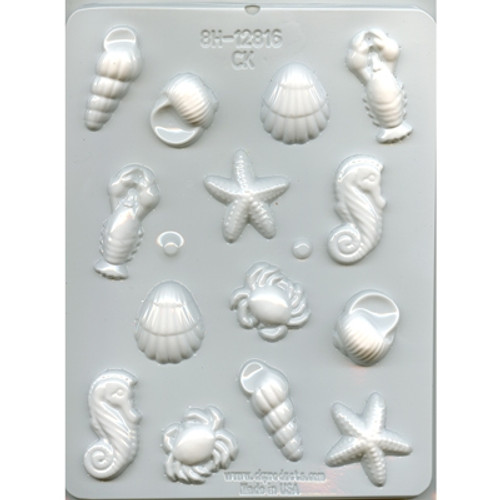 Sea Creatures - Hard Candy/Chocolate Plastic Mold--NEW!