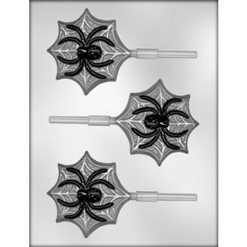 Spider on Web - Lollipop - Hard Candy/Chocolate Plastic Mold