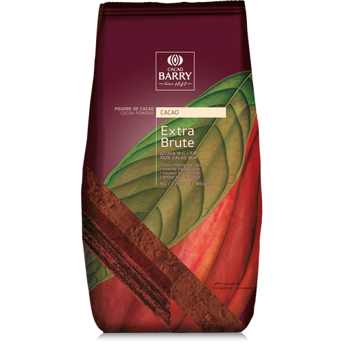 Cocoa Powder - Extra Brute - 1 kg (2.2 lbs) - Cacao Barry