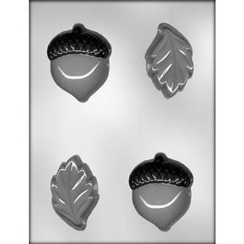 Leaves and Acorns- Plastic Chocolate Mold