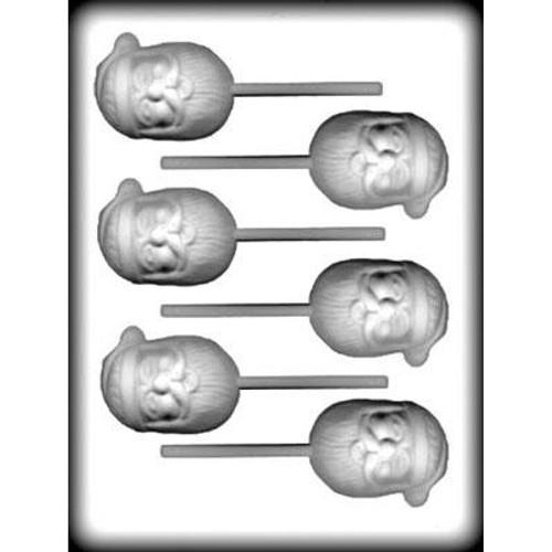 Santa Face - Lollipop - Hard Candy/Chocolate Plastic Mold