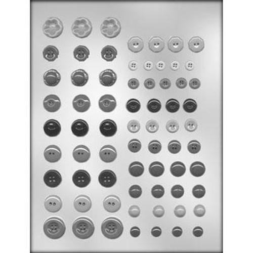Button Assortment - Plastic Chocolate Mold