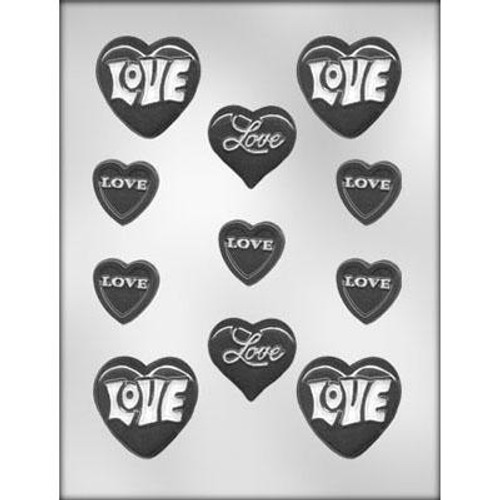 Hearts with Love  - Plastic Chocolate Mold