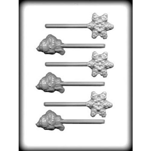Snowflake Snowman- Lollipop - Hard Candy/Chocolate Plastic Mold