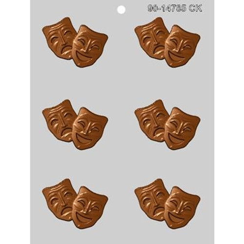 Comedy - Tragedy - Plastic Chocolate Mold
