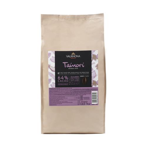 Chocolate - Dark Bittersweet 64% - Tainori Fèves (Discs) - Valrhona