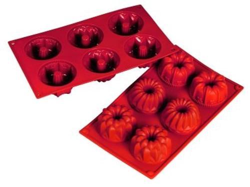 Variety, Regal - 3 Designs - 3.38 oz - 6 pc per tray - Silicone - Fat Daddio's