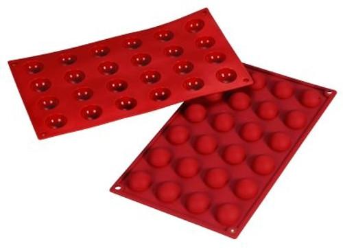 Hemisphere - 0.3 oz - 24 pc per tray - Silicone - Fat Daddio's