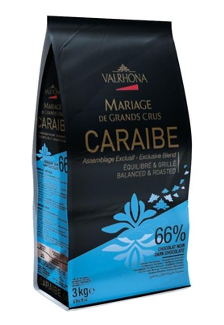 Chocolate - Dark Bittersweet - Caraibe - 3 kg (6.6 lbs) - Valrhona