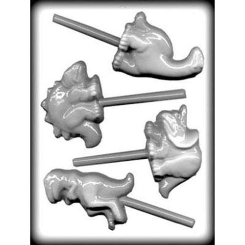 Dinosaur - Lollipop - Hard Candy/Chocolate Plastic Mold
