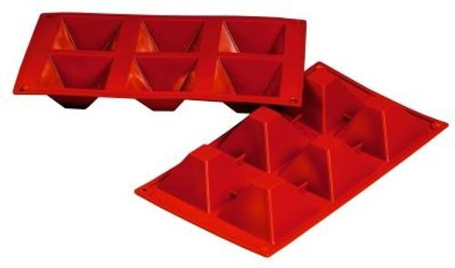 Pyramid - 3 oz - 6 pc per tray - Silicone - Fat Daddio's