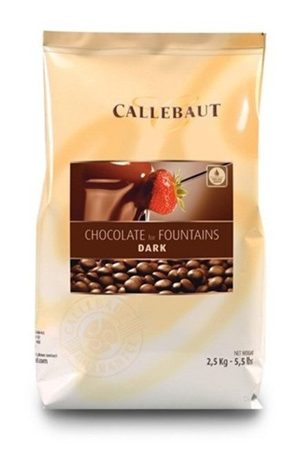 Chocolate - Fountain - Dark Semisweet 56.9% - Callets (Chips) - Callebaut - 2.5 kg (5.5 lbs)