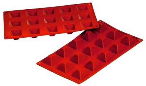 Pyramid - 0.68 oz - 15 pc per tray - Silicone - Fat Daddio's