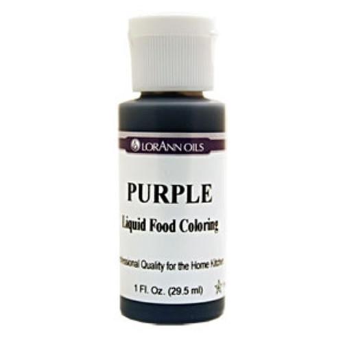 Purple Food Colouring - Liquid - 30 mL/1 oz - LorAnn