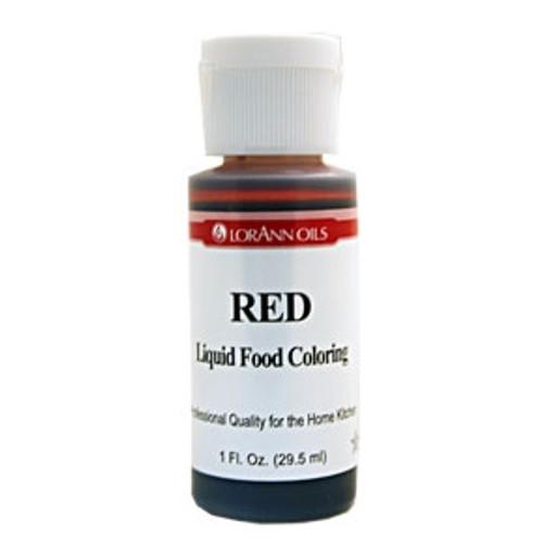 Red Food Colouring - Liquid - 30 mL/1 oz - LorAnn