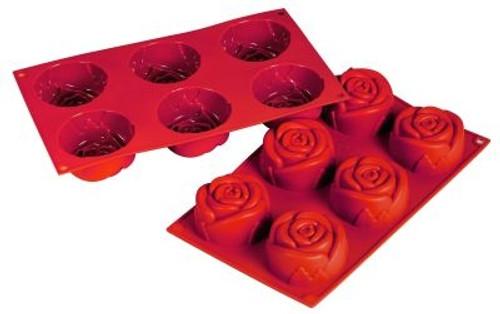 Rose - 3.89 oz - 6 pc per tray - Silicone - Fat Daddio's