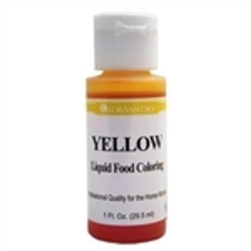 Yellow Food Colouring - Liquid - 30 mL/1 oz - LorAnn