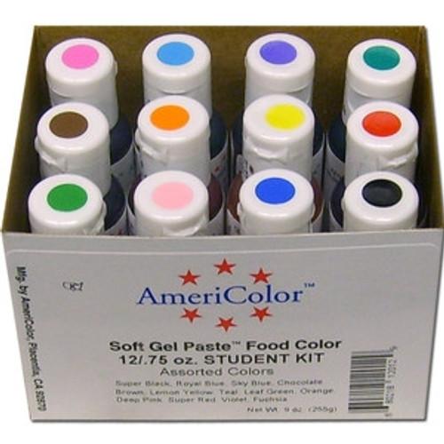 Soft Gel Paste - Assorted Colour - Student Kit #1 - Americolor