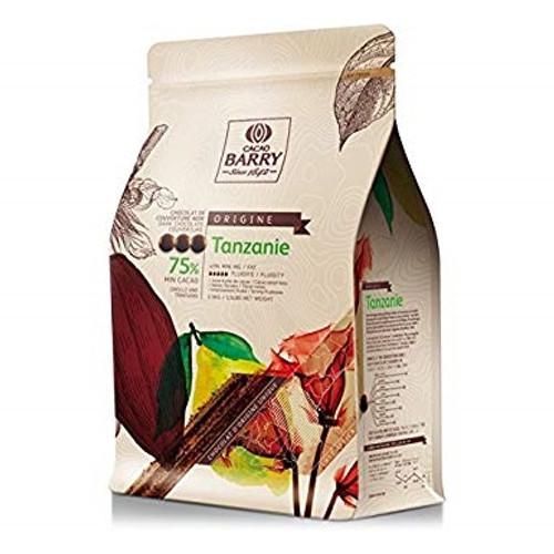 "Chocolate - Dark 75% - Tanzanie ""Origine Rare"" -  Cacao Barry"