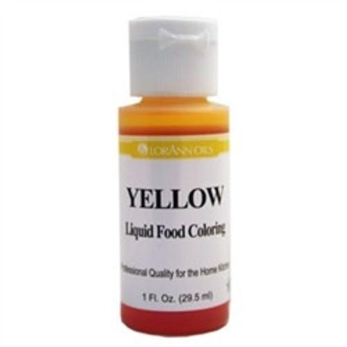 Yellow Food Colouring - Liquid - 3.8 L / 1 Gallon - LorAnn