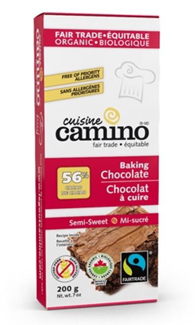 Organic Semi Sweet Baking Chocolate (56%) - 200 g (0.44lb) - Cuisine Camino