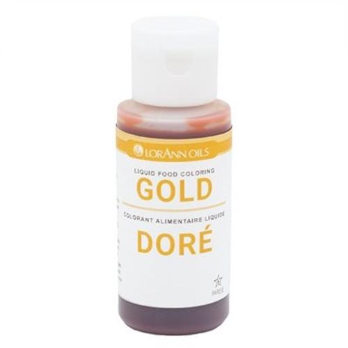 Gold Food Colouring - Liquid - 118 mL/4 oz - LorAnn