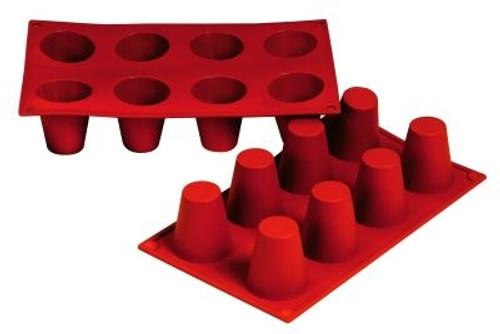 Baba - 3.1 oz - 8 pc per tray - Silicone - Fat Daddio's