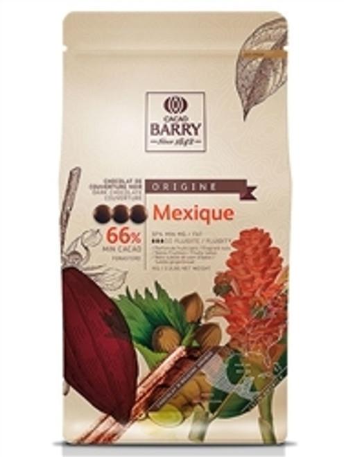 """Chocolate - Dark 66% - Mexique """"Origine Rare"""" - 2.5 kg (5.5 lbs) - Cacao Barry"""