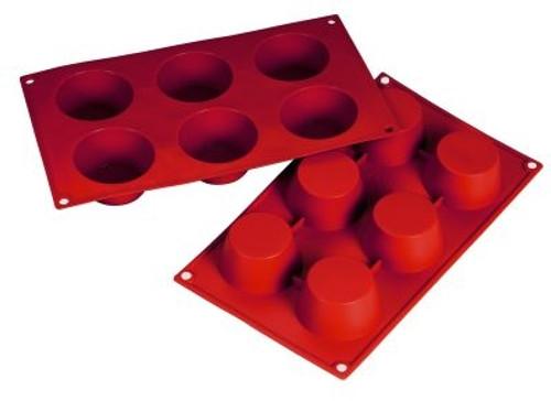 Muffin - 3.38 oz - 6 pc per tray - Silicone - Fat Daddio's