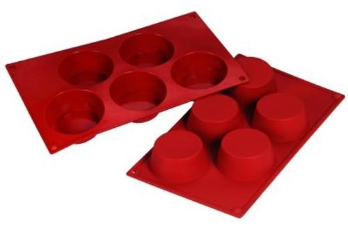 Muffin - 4.57 oz - 5 pc per tray - Silicone - Fat Daddio's