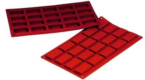 Financier - 0.68 oz - 20 pc per tray - Silicone - Fat Daddio's