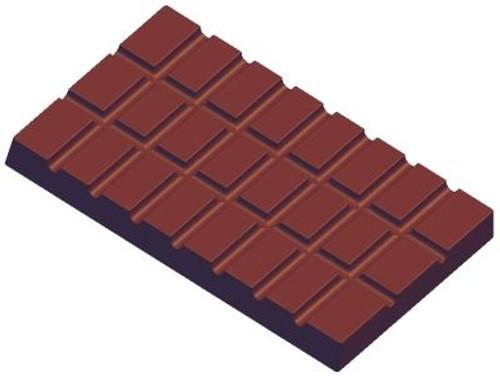 Block, 24 squares - 3 bars per tray - Polycarbonate Mold - Fat Daddio's